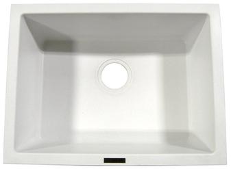 Ukinox Single Bowl Sink, GUN2418WH (White)