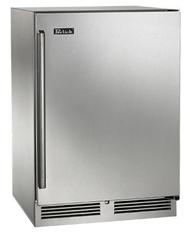 Perlick Signature Series 24 Inch Freezer with Solid SS Door, Left Hinge (HP24FS1L) - Right Hinge Shown