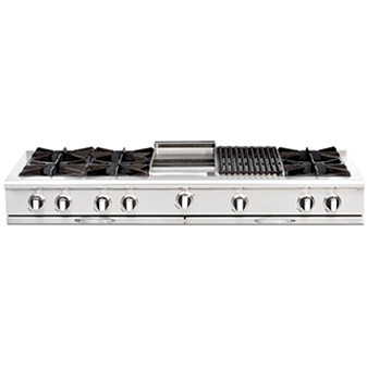 Capital Culinarian Series 60 Inch Cooktop CGRT604BB2N