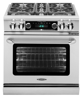 Capital Connoisseurian Series 30 Inch Freestanding Dual Fuel Range CSB304 - Front View
