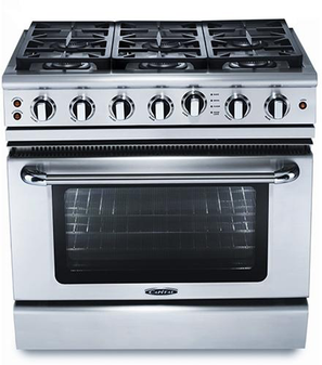 Capital Precision Series 36 Inch Freestanding Gas Range GSCR366 - Front View