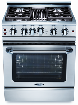 Capital Precision Series 30 Inch Freestanding Gas Range with BBQ GSCR304Q-L - Front View