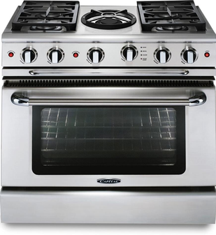 Capital Precision Series 36 Inch Freestanding Range with Wok GSCR364WN - Front View