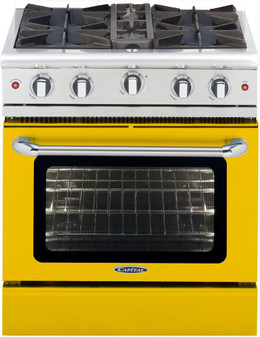Capital Culinarian Series 30 Inch Freestanding Gas Range in Yellow MCOR304Y-N - Exterior Detail
