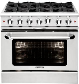 Capital Culinarian 36 Inch Freestanding Gas Range MCOR366N