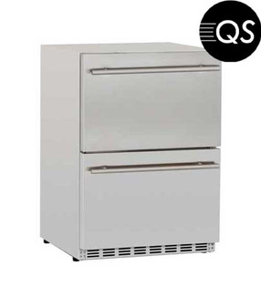 Prestige 24 Inch Deluxe Two Drawer Refrigerator (PSSRFR-24DR2)