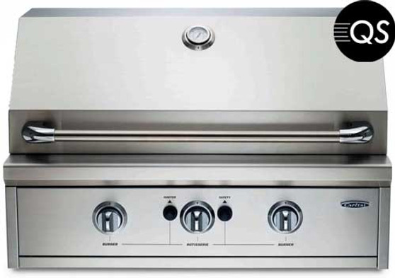 Capital Professional Series 32 Inch Built-In Grill PRO32BI, Front View