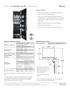 Perlick 24 Inch Panel Ready Column Freezer CR24F-1 - Spec Sheet Page 1