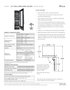 Perlick 24 Inch Panel Ready Dual Zone Wine Reserve CR24D-1 - Spec Sheet Page 1