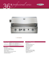 Capital Professional Series 36 Inch Built-In Grill PRO36RBI - Spec Sheet Page 1