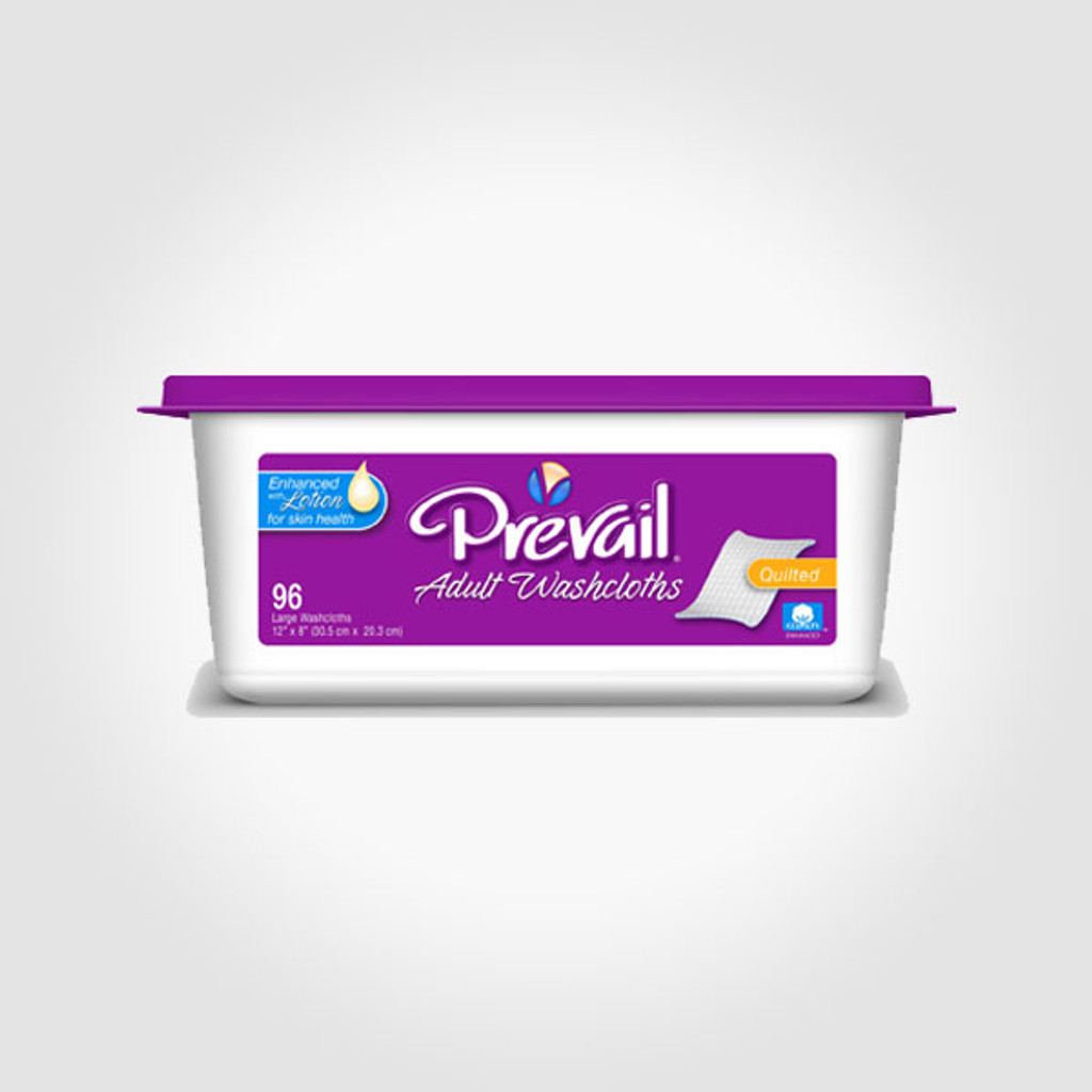 Prevail Premium Quilted Adult Washcloths-(Tub)