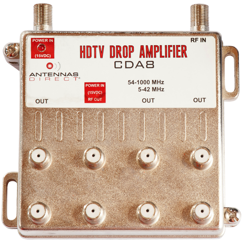 8-Output TV / CATV Distribution Amplifier