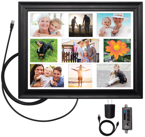 ClearStream VIEW® Wall Frame Amplified Indoor HDTV Antenna with Collage Mat