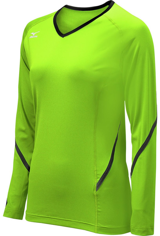 e884aee4ad15 ... Mizuno Women's Elite 9 Techno Generation Long Sleeve Jersey; navy .  white (5100); electric green . black (8D90) ...