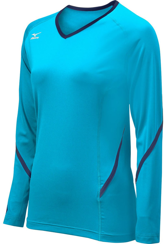 f4de0d65266b Mizuno Women's Elite 9 Techno Generation Long Sleeve Jersey. Previous. red  . white (1000); columbia blue . navy (5551) ...
