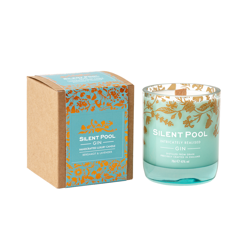 bergamot and lavender candle and box