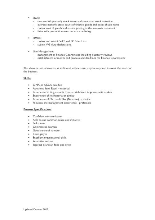 Finance Manager CV p2