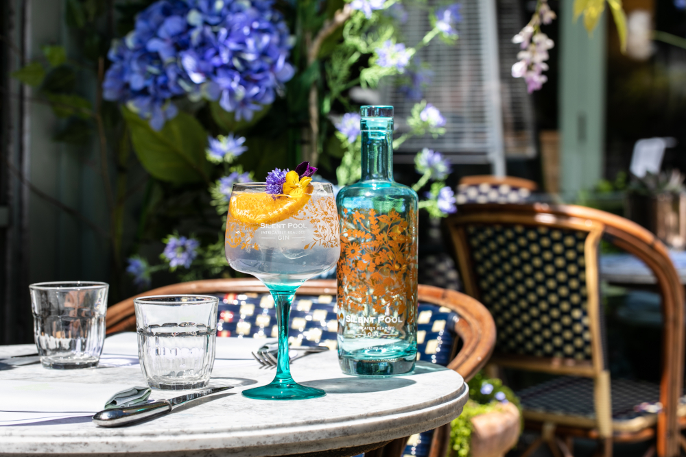 silent pool gin chamomile cocktail at the ivy cobham