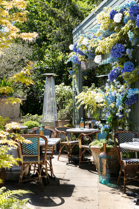 the ivy silent pool gin garden terrace