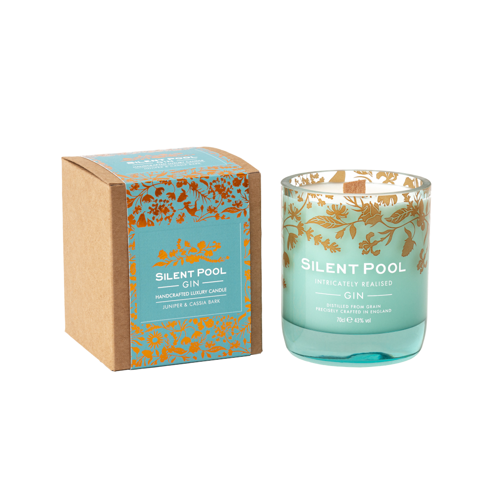 juniper and cassia bark candle and box