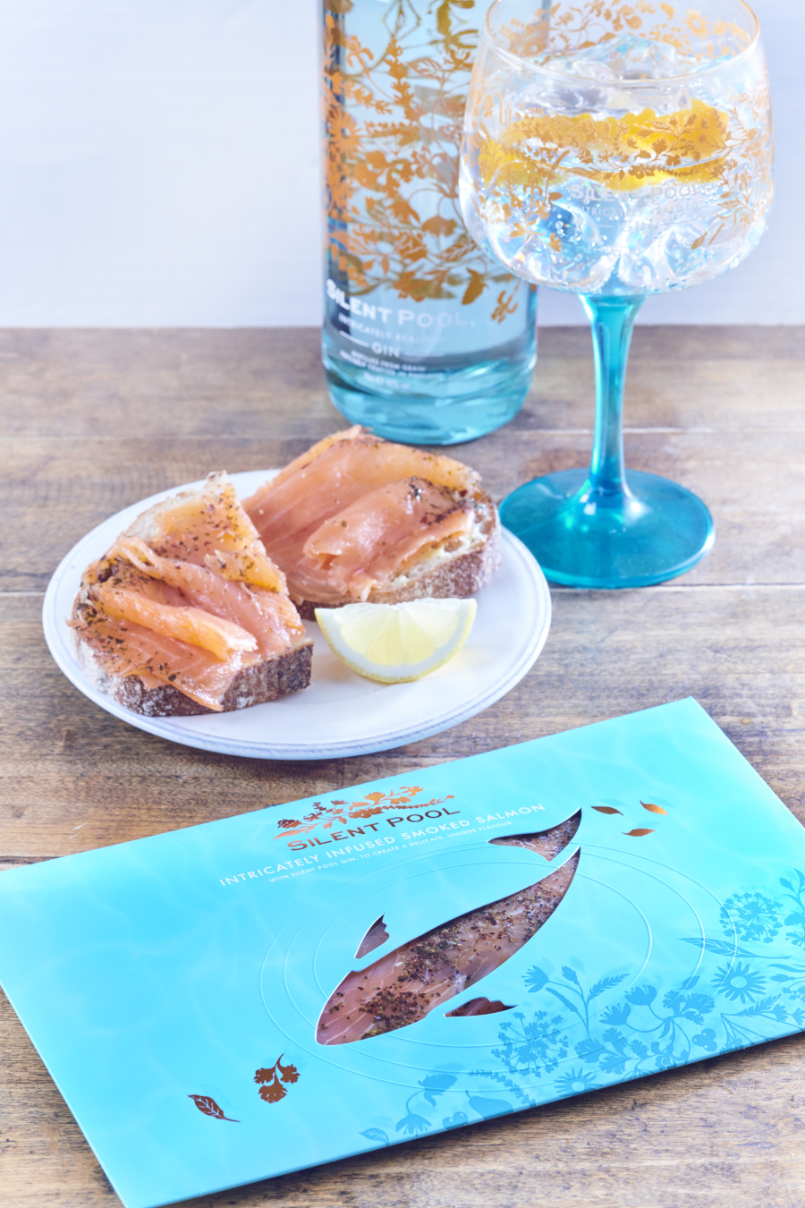silent pool gin infused smoked salmon