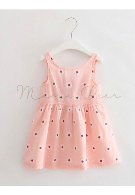 Lovely Flower Print Sleeveless Dress