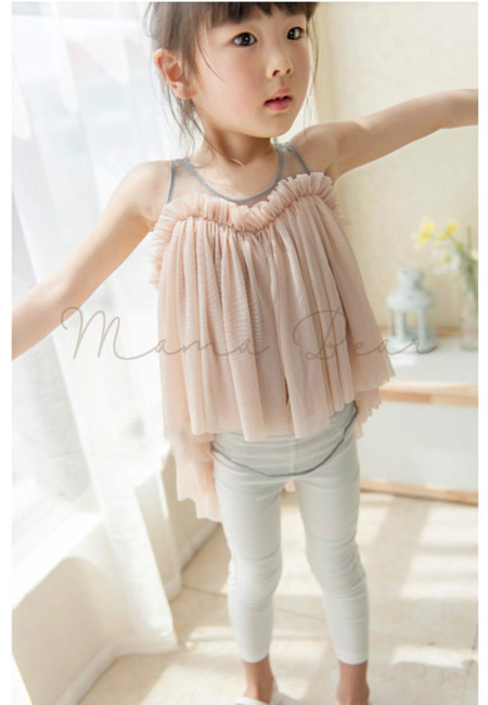 Sweetheart Mesh Kid Top