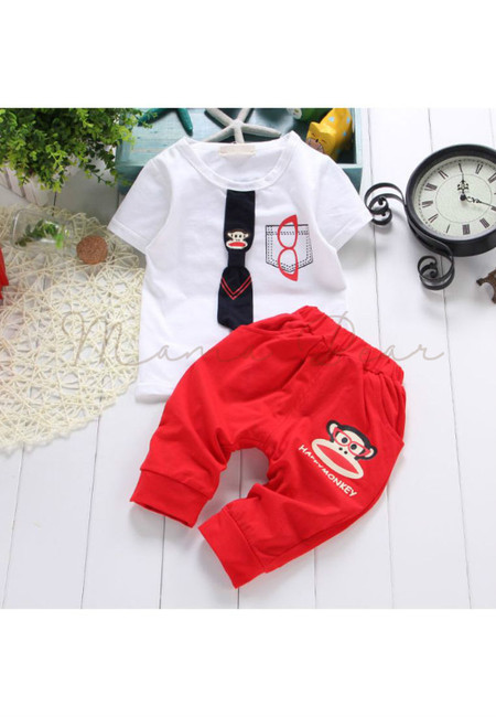 Paul Frank with Tie Shirt and Pants Set