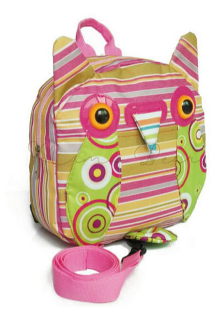 Owl Stripes Harness Mini BackPack