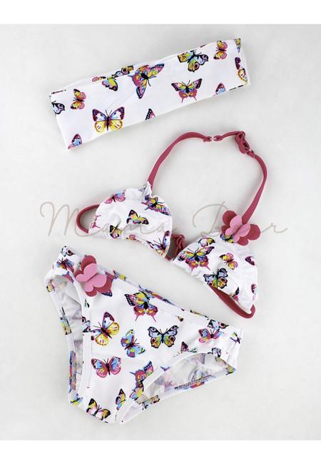 Sweet Butterfly 2pc Kids Bikini w/ Headband