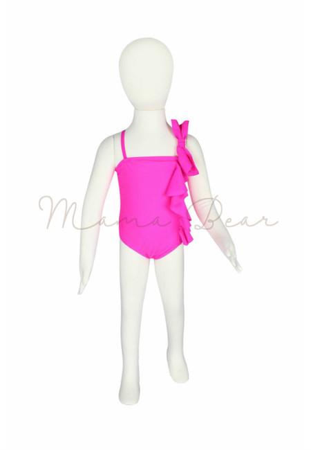 Baby Pink Bow Kids Swimwear