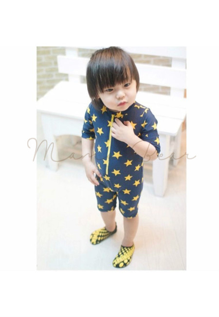 Five Pointed Star Boy Kids Swimwear 2pcs Set