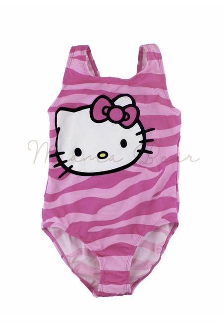 Kitty Zebra Prints Kids Swimwear