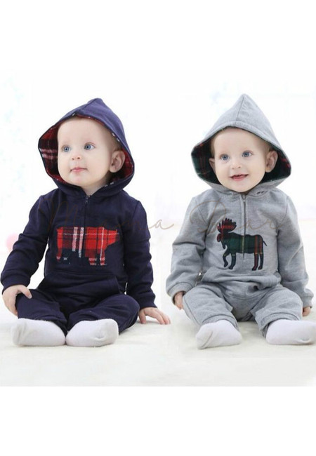 Animal Patchwork Baby Onesies