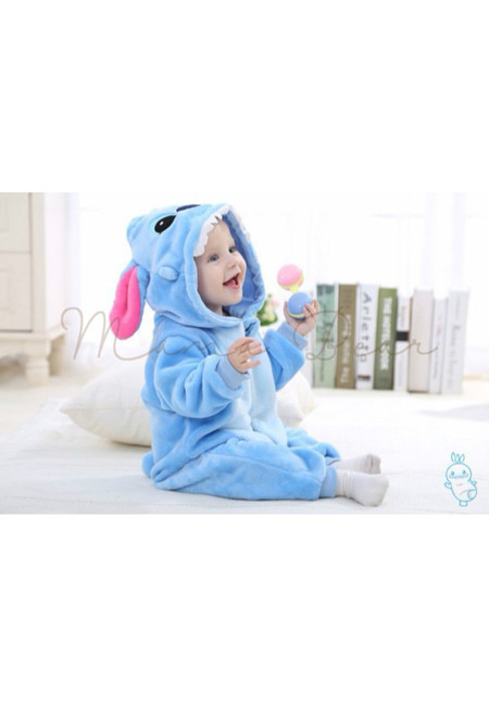 Blue Stitch Baby Onesies