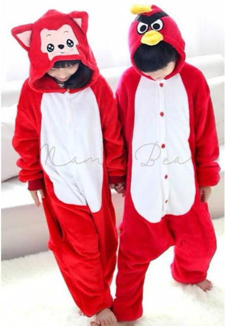 Red Fox or Bird Kids Onesies