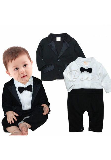 Black Tuxedo w/ Coat Set