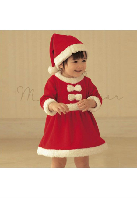 Baby Girl Santa Costume Set