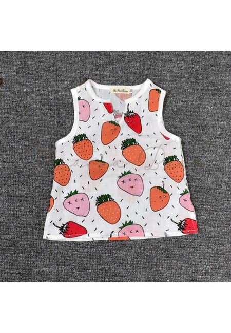 Summer Fruit Print Kids Tops