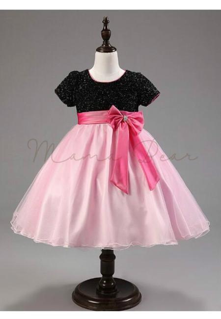 Sparkling Bowtie Kids Party Dress