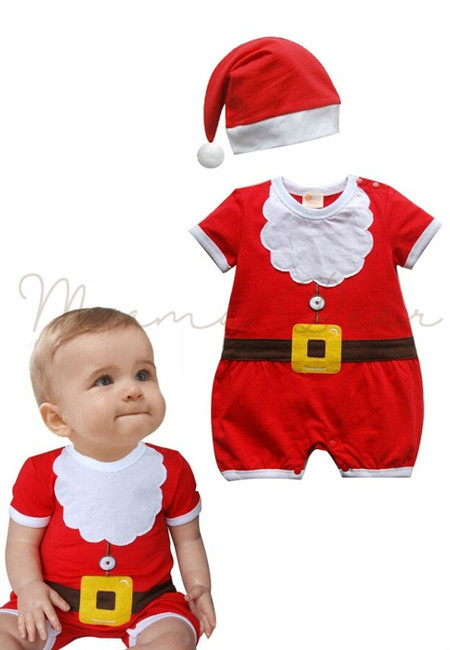 Santa Claus Babysuit and Hat Set
