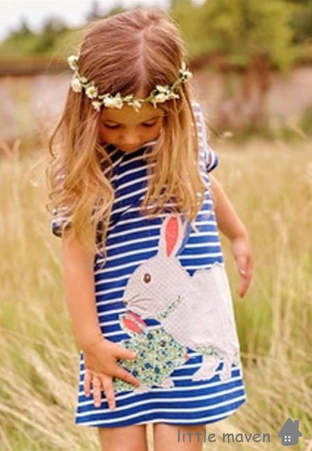 Little Maven Mother and Baby Rabbit Kids Dress