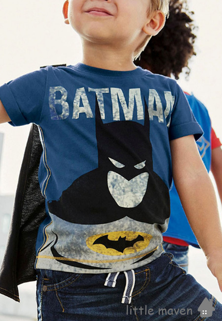 Little Maven Batman with Cape Kids Top