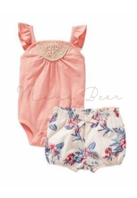 Sleeveless Bodysuit Kids Clothing Set