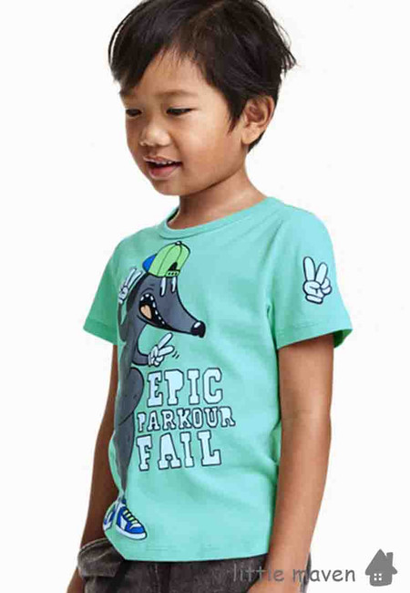 Little Maven Epic Dog Print Kids Top