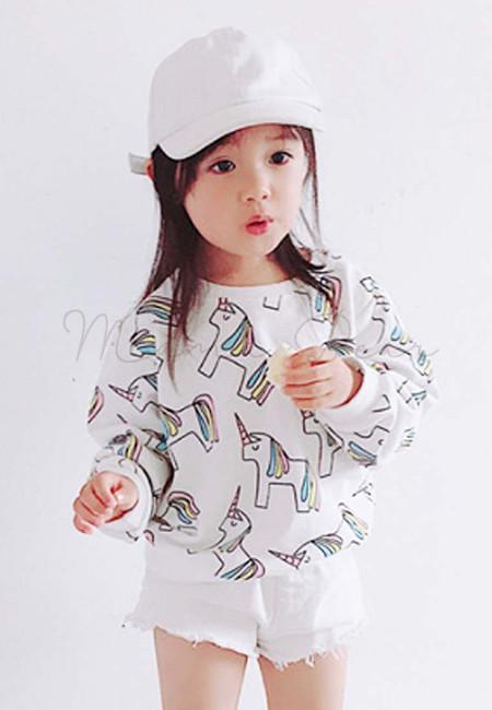Unicorn Print Kids Sweatshirt Top