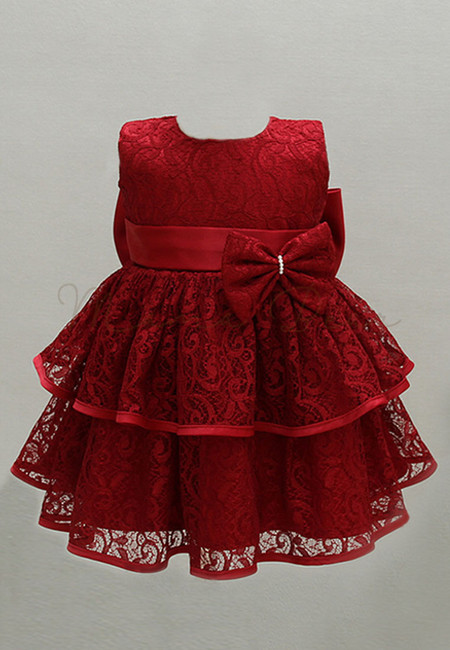Layered Lace with Ribbon Ball Gown Party Dress (3M-24M)