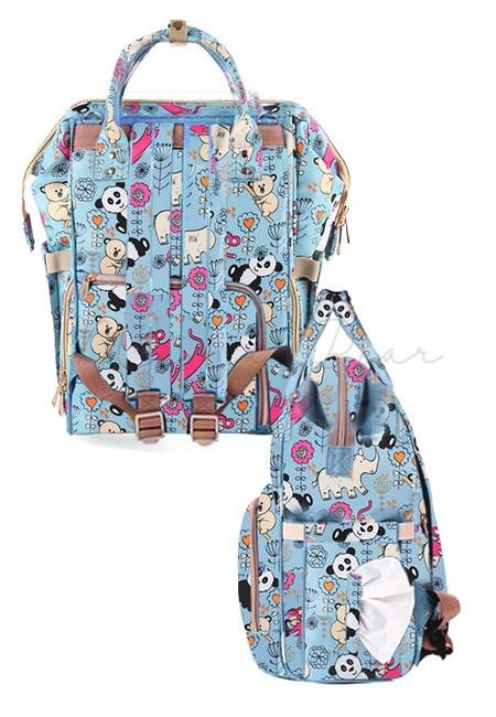 Waterproof Panda Diaper Bag Mummy Backpack Nappy Changing Bag