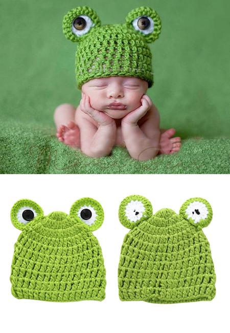 Cute Baby Frog Hats  Handmade Infant Caps