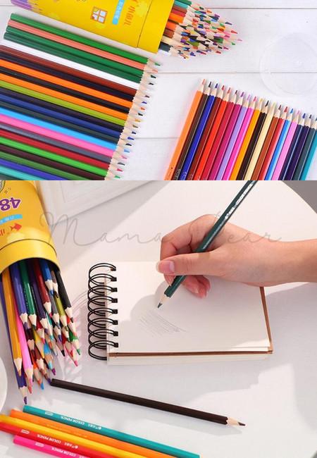 60pcs Color Pencil Stationery Cute Cartoon Drawing Coloring Pencil Pen